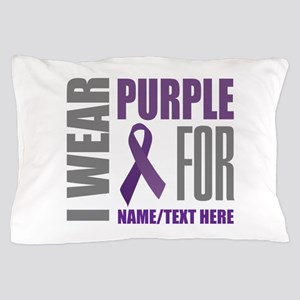 Purple Awareness Ribbon Customized Pillow Case