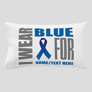 Blue Awareness Ribbon Customized Pillow Case