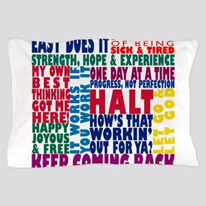 AA 12 Step Slogans 8k Pillow Case
