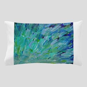Sea Scales - Ombre Teal Ocean Abstract Pillow Case