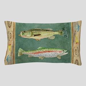 Fishing Cabin Lake Lodge Plaid Decor Pillow Case