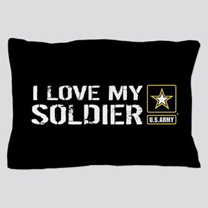 U.S. Army: I Love My Soldier (Black) Pillow Case