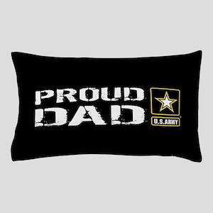 U.S. Army: Proud Dad (Black) Pillow Case