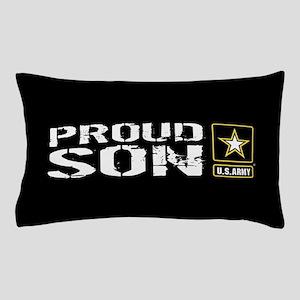 U.S. Army: Proud Son (Black) Pillow Case