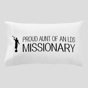 LDS: Proud Missionary Aunt (White) Pillow Case