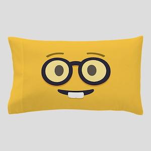 Nerdy Emoji Face Pillow Case