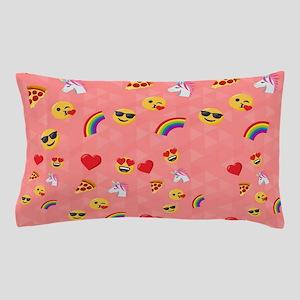 Emoji Pink Pattern Pillow Case