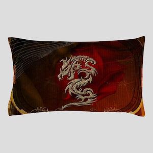 Awesome dragon, tribal design Pillow Case