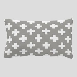 Grey Plus Sign Pattern Pillow Case