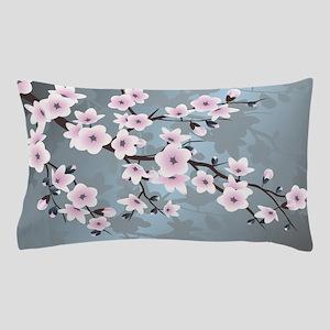 Pink Blue Cherry Blossom Pillow Case