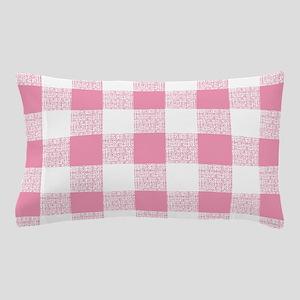 Pink Gingham Pattern Pillow Case