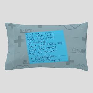Greys Anatomy Sticky Note Pillow Case