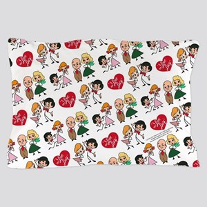 I Love Lucy Character Stick Figures Pillow Case