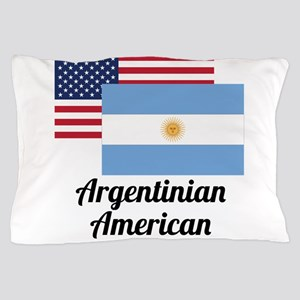 American And Argentinian Flag Pillow Case