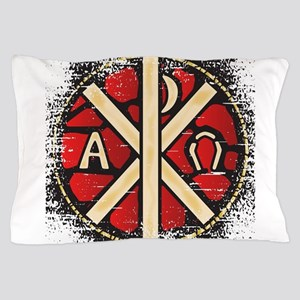 Alpha Omega Stained Glass Pillow Case