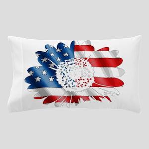 Patriotic Sunflower Pillow Case