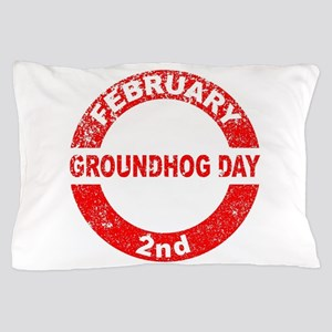 Groundhog Day Stamp Pillow Case