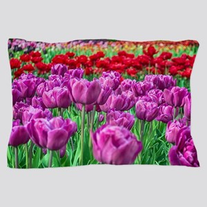 Tulip Field Pillow Case