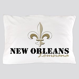 New Orleans Louisiana gold Pillow Case