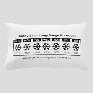 Happy Skier Forecast Pillow Case