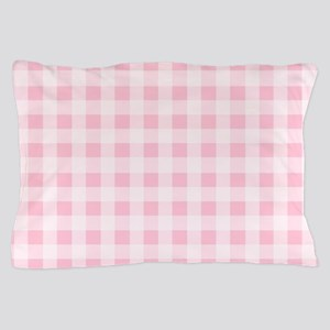 Pink Gingham Checkered Pattern Pillow Case