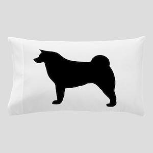akita silhouette Pillow Case