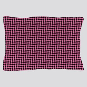Houndstooth  Pink Pillow Case