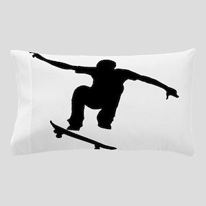 Skateboarder Silhouette Pillow Case