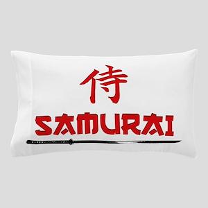 Samurai Kanji and text Pillow Case