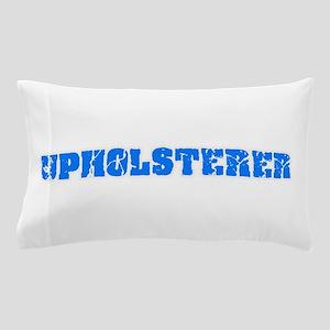 Upholsterer Blue Bold Design Pillow Case
