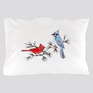 BLUEJAY AND CARDINAL Pillow Case