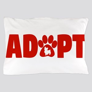 Cute Pets Paw Cat Dog Adopt Red Pillow Case