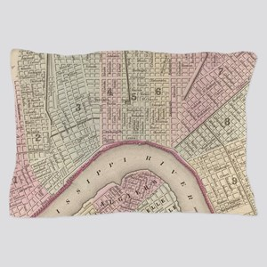 Vintage Map of New Orleans (1880) Pillow Case
