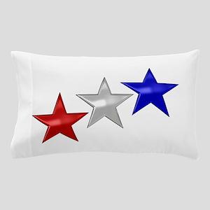 Three Shiny Stars Pillow Case