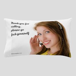 GFY Call Center Girl Pillow Case