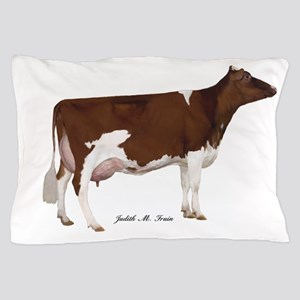 Red and White Holstein Cow Pillow Case