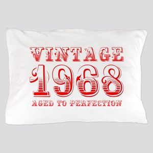 VINTAGE 1968 aged to perfection-red 400 Pillow Cas