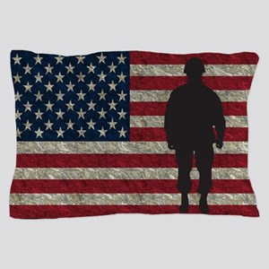 Usflag Soldier Ys Pillow Case