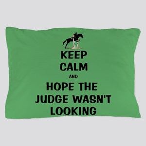 Funny Keep Calm Horse Show Pillow Case