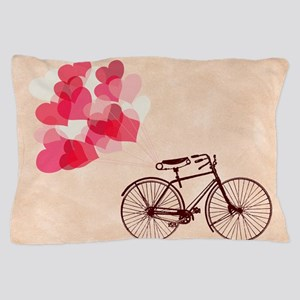 Heart-Shaped Balloons and Bicycle Pillow Case
