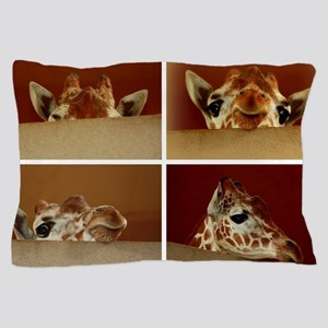 Giraffe Collage Pillow Case