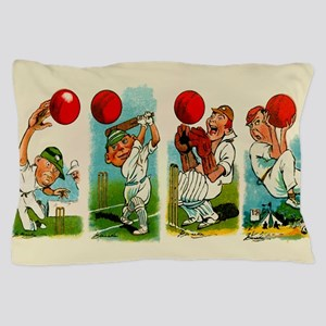 Cricket Players Pillow Case