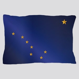 Flag of Alaska Gloss Pillow Case