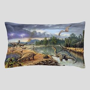 Early Cretaceous life, artwork Pillow Case