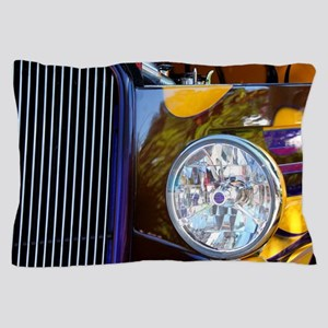 Hot Rod Show Car Light Pillow Case