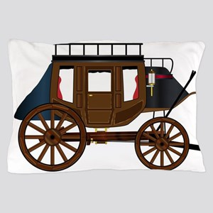 Western Stage Coach Pillow Case