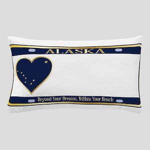 Alaska State License Plate Pillow Case