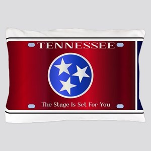 Tennessee State License Plate Flag Pillow Case