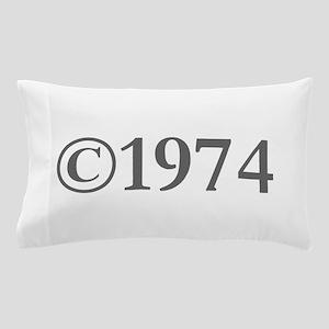 Copyright 1974-Gar gray Pillow Case