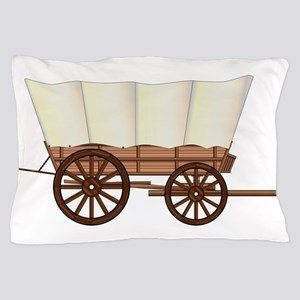 Covered Wagon Wheel Pillow Case